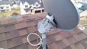 Directv Slimline Dish A Roof View