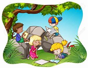 Kids Reading And Writing Clipart - ClipartXtras