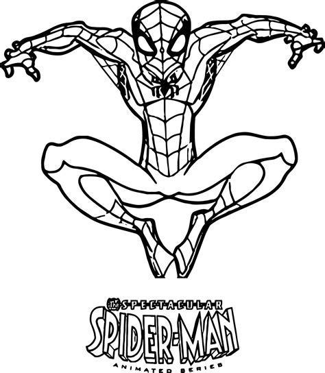 Spectacular Spider Man Coloring Page Wecoloringpagecom