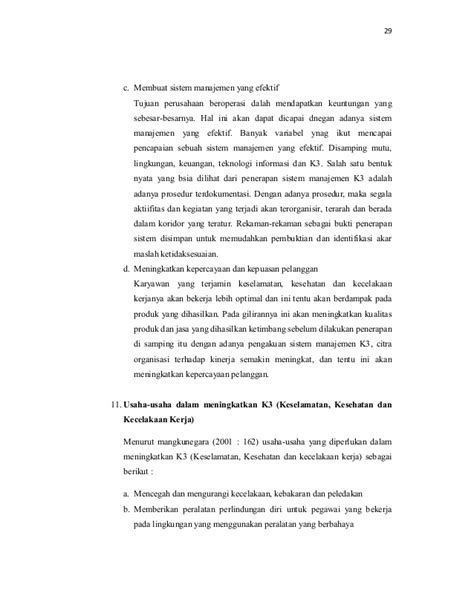 PENGARUH KEPEMIMPINAN DAN PENERAPAN K3 (KESELAMATAN