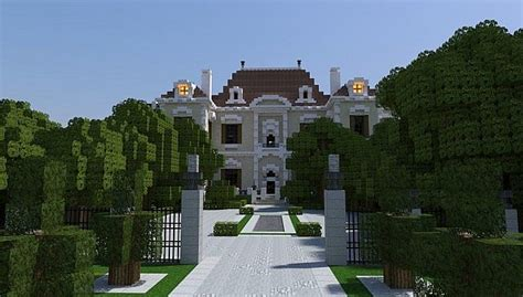 crespi estate beautiful mansion minecraft house design