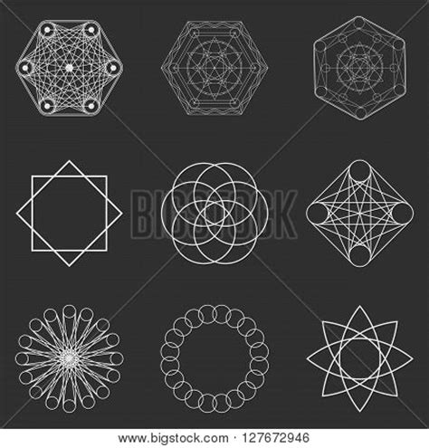 Abstract Cool Geometric Shapes by Abstract Geometric Shapes Vector Photo Bigstock