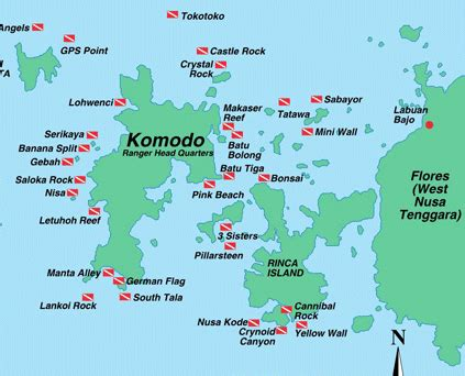 komodo diving information scuba diving resource
