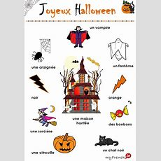 Myfrenchie  Joyeux Halloween!! Vocabulaire  French Teaching Kids  Halloween Vocabulary