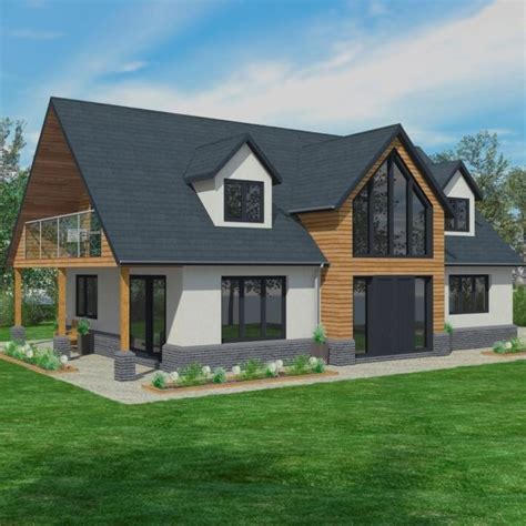 Traditional A Frame Home With Contemporary Style by Bungalows Timber Framed Home Designs Scandia Hus