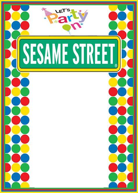 printable sesame street invitation templates