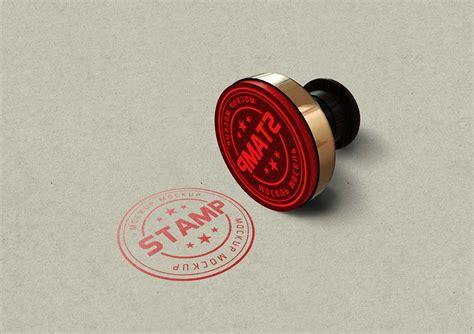 stamp mockup mockuptree