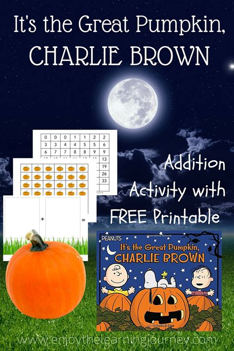 Its The Great Pumpkin Charlie Brown ~ Addition Activity