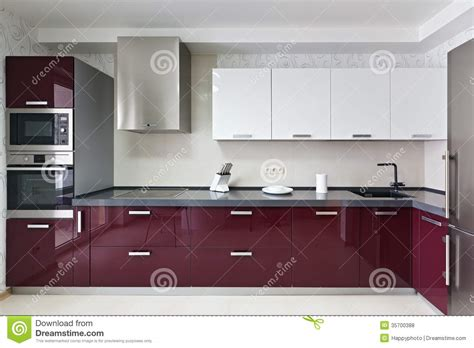 modern kitchen interior royalty free stock photos image