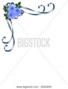 wedding program design blue roses corner design 2 stock photo stock images