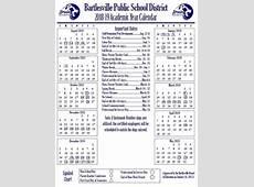 Academic Year Calendar Updates Bartlesville Public Schools