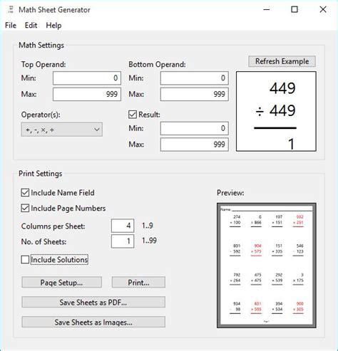 4 math worksheet generator software for windows 10
