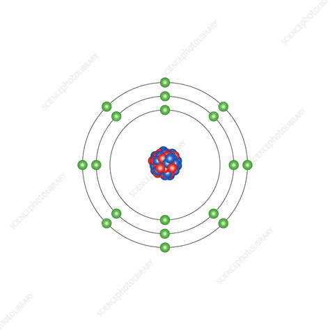 Argon Protons Neutrons Electrons by Argon Atomic Structure Stock Image C013 1531 Science