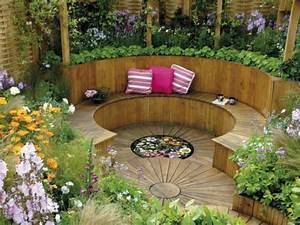 Gartenzaun Ideen Gestaltung : sitzecke im garten relax im gr nen ~ Lizthompson.info Haus und Dekorationen
