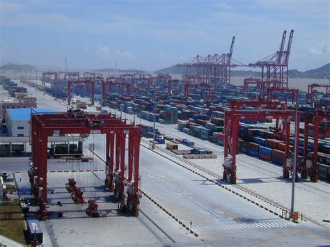 file port of shanghai yangshan water harbour zone 02 jpg