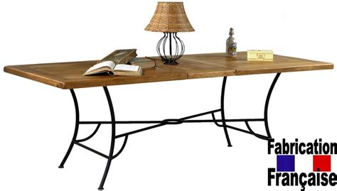 h et h canapé table chêne et fer forgé bastide table en chêne massif meuble fin de série direct ameublement
