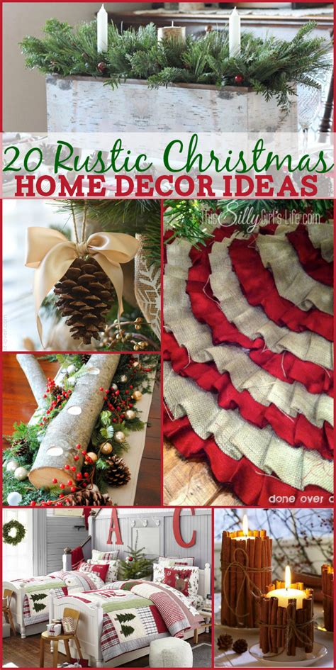 rustic christmas home decor ideas  silly girls