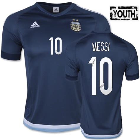Discount Lionel Messi Youth Away Soccer Jersey 2015