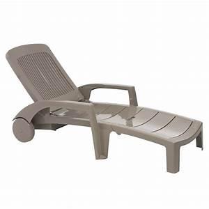 Chaise Bain De Soleil : bain de soleil fidji taupe achat vente chaise longue bain de soleil fidji taupe cdiscount ~ Teatrodelosmanantiales.com Idées de Décoration