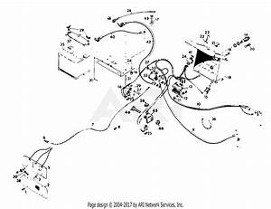Gravely 34687 8123  12hp  With Hydraulic Lift Parts Diagram For Electrical System