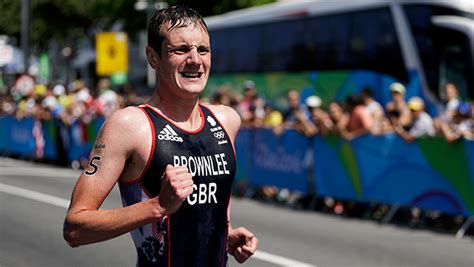 Brownlee was adjudged to have ducked a rival during the swimming leg. What Makes A Good Triathlon Runner?   ACTIVE