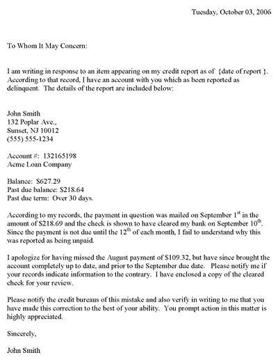 credit dispute letter template pdf redit dispute letter template business forms credit dispute letter templates