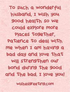 Happy Birthday to my Husband | WishesGreeting | •♥• Love ...