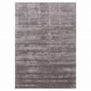 tapis en viscose annapurna gris fonce angelo tufte main With tapis en viscose