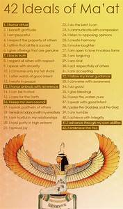 42 Ideals of Ma'at | Harmonic Resonance | Pinterest