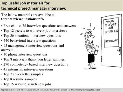 Technical Project Manager Interview Questions