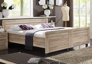 Bett Auf Rollen : bett meran doppelbett bettgestell auf rollen in eiche s gerau 180x200 ebay ~ Markanthonyermac.com Haus und Dekorationen