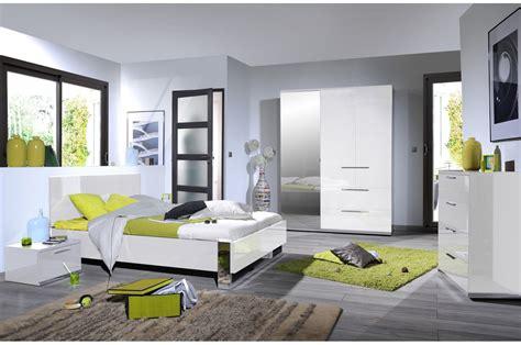 chambre complete adulte design chambre design laqué blanche et chrome trendymobilier com