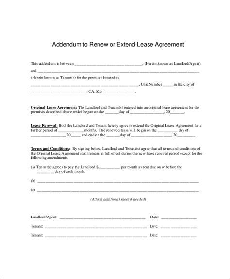 lease renewal templates  sample  format