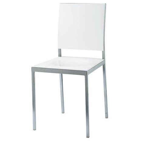 chaises maisons du monde chaise en plastique et métal blanche oslo maisons du monde
