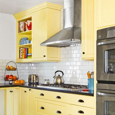 yellow backsplash kitchen a kitchen redo with added function and lots more charm 1206