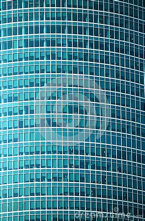 modern office building glass wall front view close