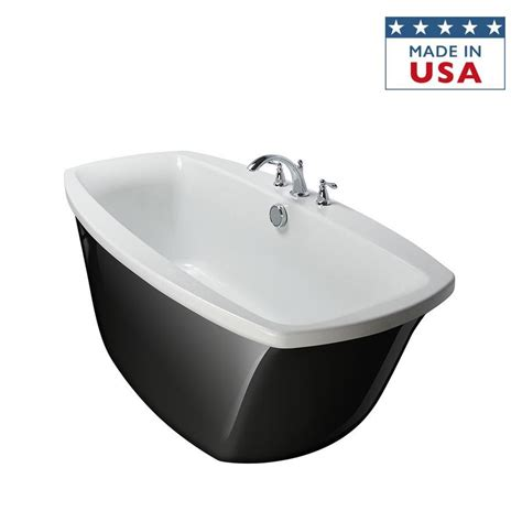 bathtubs at lowes shop primo 66 in black white acrylic bathtub with