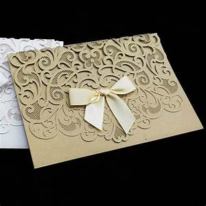 aliexpresscom buy 50pcs pack luxurious elegant wedding With elegant wedding invitations 2013