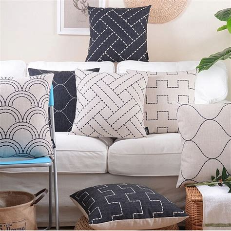 Decorative Pillow Covers Ikea Geometric Throw Pillow