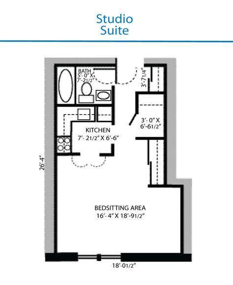 floor plan  studio suite quinte living centre