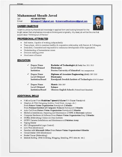 How To Write A Professional Cv Sles by Cv Template Qatar Resume Format