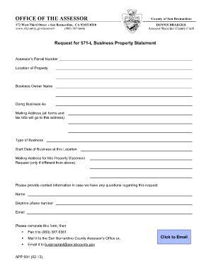 santa barbara county assessor business property statement