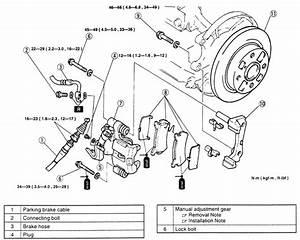 1997 Mazda Millenia Front Brake Rotor Removal Diagram