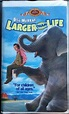 LARGER THAN LIFE - Bill Murray - VHS Movie 1996 Clamshell ...