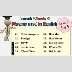 (lesson 35) Top50 French Words And Phrases Used In English Youtube