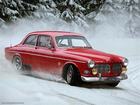 Snow, Santa, Santa Claus, Drift, Car, Volvo, Humor