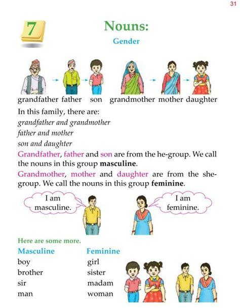 worksheets on gender for grade 1 grammar 187 1st grade grammar nouns gender 1