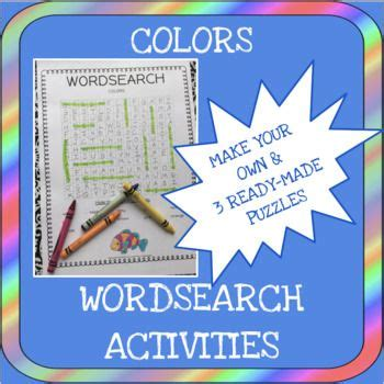 colors word search activities    word search