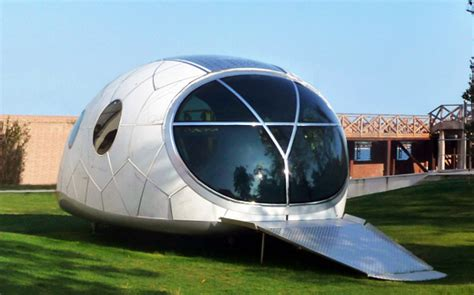 space homes mercuryhouseone space age solar powered pod house unveiled inhabitat sustainable design