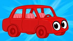 My Red Car Morphle Meets The Robot Cars